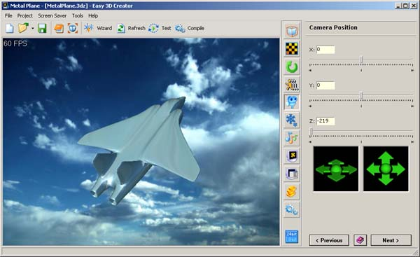 Easily create stunning 3D screen savers in a few minutes with no programming Screen Shot